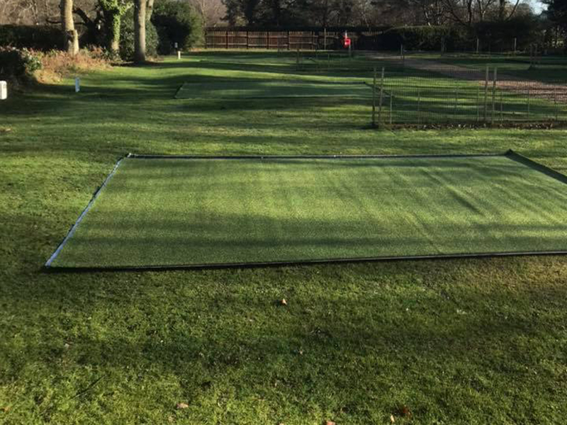Astroturf camping pitch