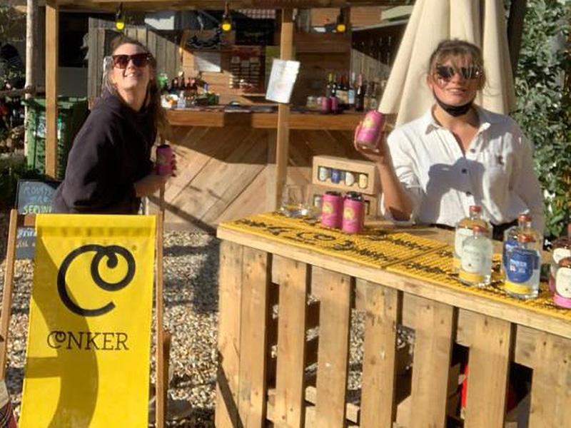 Conker Gin visit Back of Beyond September 2020