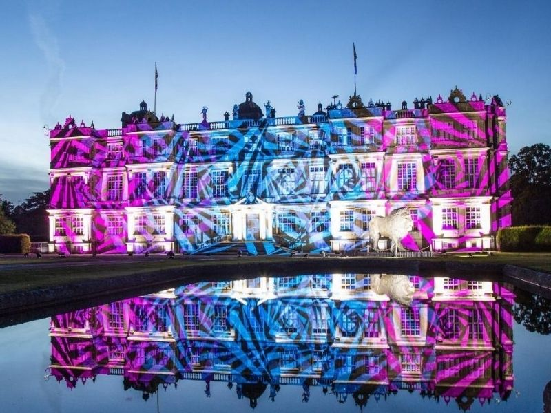 Longleat House lit up for Land of Light