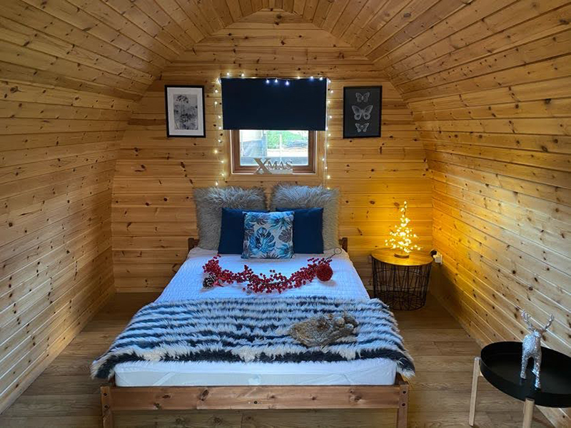 Snuggle up in a glamping pod